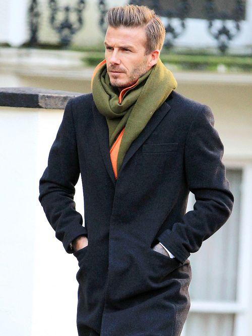 Классический образ пальто с шарфом